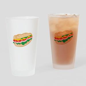 Sub Sandwich Drinking Glass