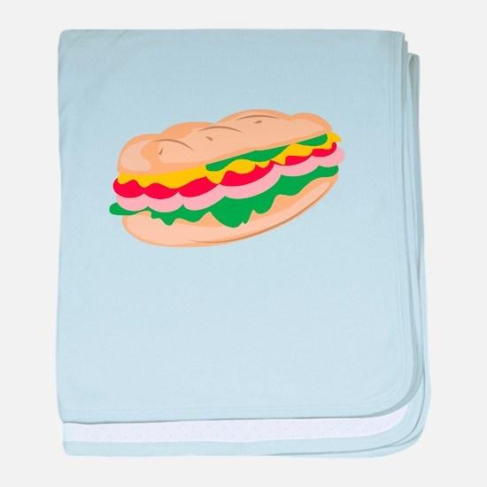 Sub Sandwich baby blanket
