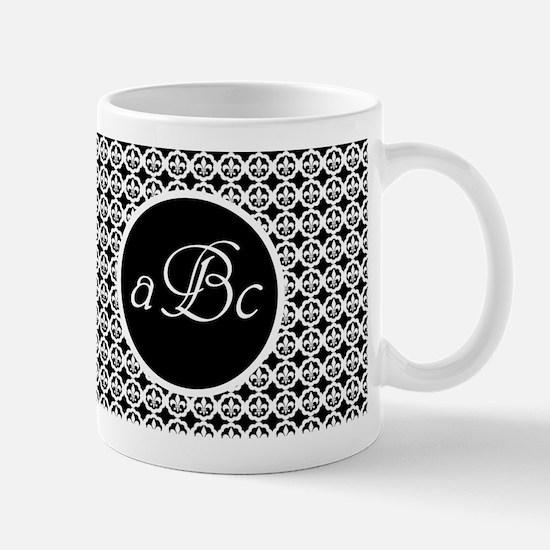 Customizable Fleur de lis Trellis Mugs