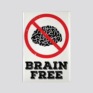 Brain Free Rectangle Magnet