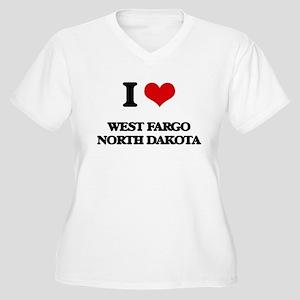I love West Fargo North Dakota Plus Size T-Shirt