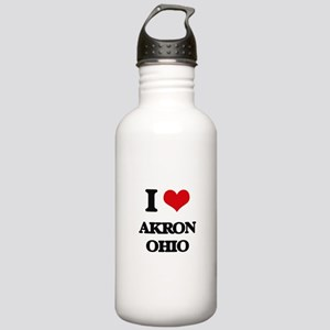 I love Akron Ohio Stainless Water Bottle 1.0L