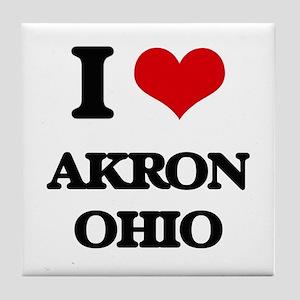 I love Akron Ohio Tile Coaster