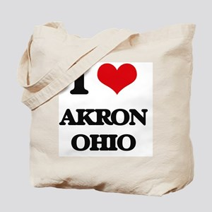 I love Akron Ohio Tote Bag