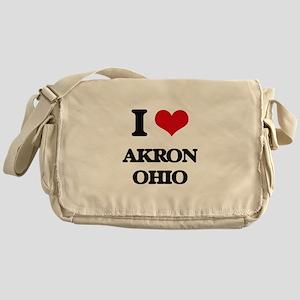I love Akron Ohio Messenger Bag