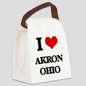 I love Akron Ohio Canvas Lunch Bag