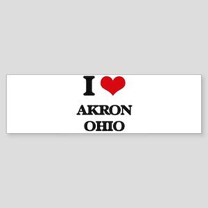 I love Akron Ohio Bumper Sticker