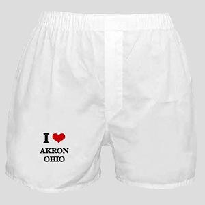 I love Akron Ohio Boxer Shorts