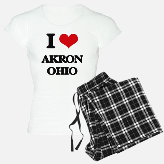 I love Akron Ohio Pajamas