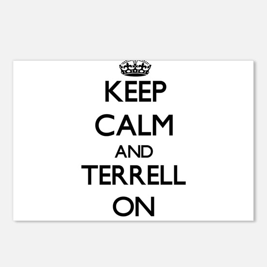 Keep Calm and Terrell ON Postcards (Package of 8)