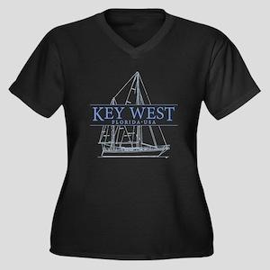 Key West Sailboat Plus Size T-Shirt