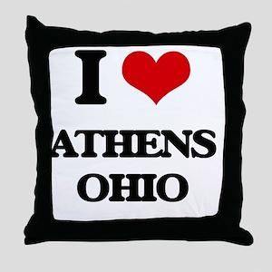 I love Athens Ohio Throw Pillow
