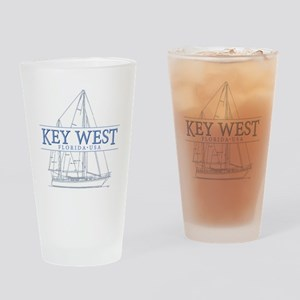 Key West Sailboat Drinking Glass
