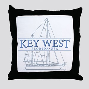 Key West Sailboat Throw Pillow