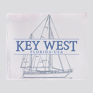 Key West Sailboat Throw Blanket