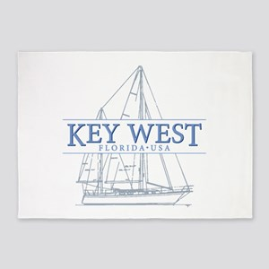 Key West Sailboat 5'x7'Area Rug