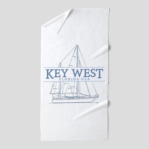 Key West Sailboat Beach Towel