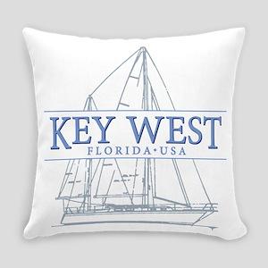 Key West Sailboat Everyday Pillow