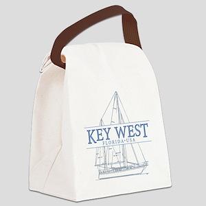 Key West Sailboat Canvas Lunch Bag