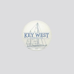 Key West Sailboat Mini Button
