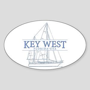 Key West Sailboat Sticker