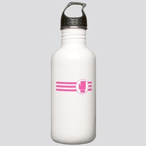 Boxing Glove Stripes (Pink) Water Bottle