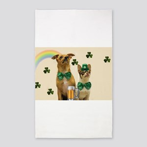 St. Patrick's Day Chihuhuas Area Rug
