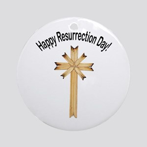 Happy Resurrection Day Ornament (Round)