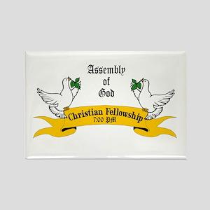 Assembly of God, Rectangle Magnet (100 pack)