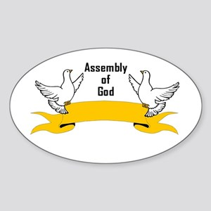 Assembly of God Oval Sticker