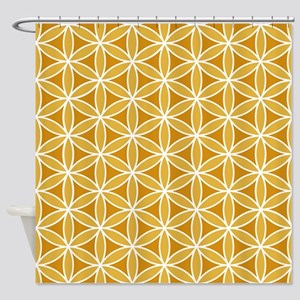 Flower of Life Big Ptn WO Shower Curtain