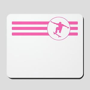 Skateboarder Stripes (Pink) Mousepad