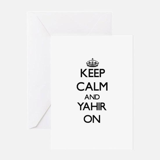 Keep Calm and Yahir ON Greeting Cards