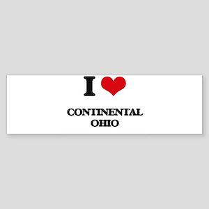 I love Continental Ohio Bumper Sticker