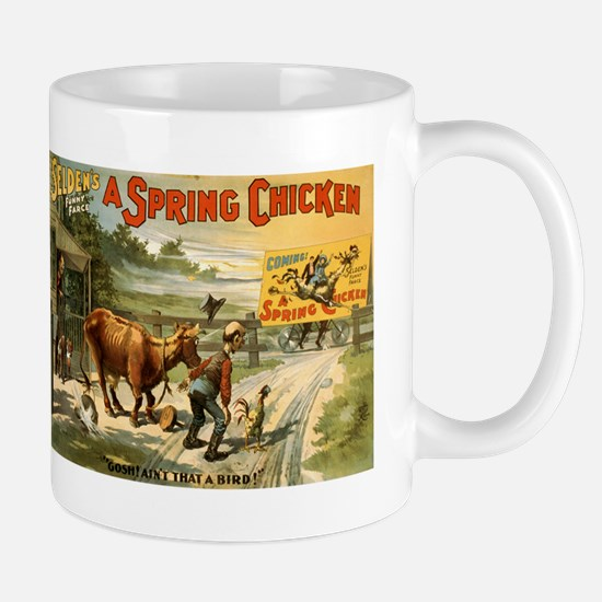 SPRING CHICKEN coffee cup