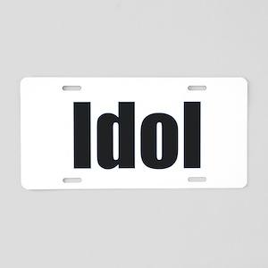 Idol Aluminum License Plate