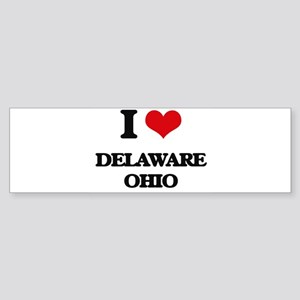 I love Delaware Ohio Bumper Sticker