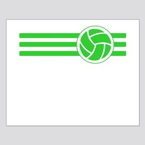 Volleyball Stripes (Green) Posters