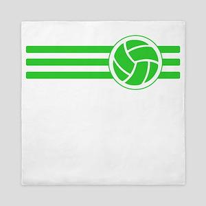 Volleyball Stripes (Green) Queen Duvet