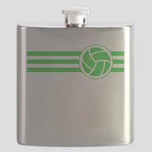 Volleyball Stripes (Green) Flask
