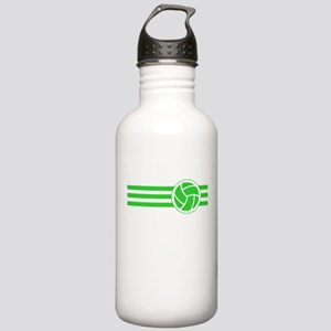 Volleyball Stripes (Green) Water Bottle