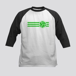Volleyball Stripes (Green) Baseball Jersey