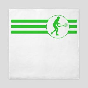 Tennis Player Stripes (Green) Queen Duvet