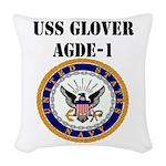 USS GLOVER Woven Throw Pillow