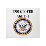USS GLOVER Throw Blanket
