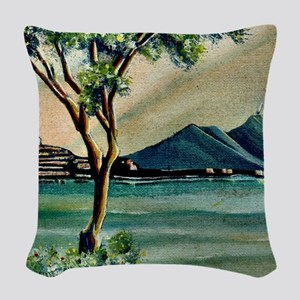 The Bay Of Naples Woven Throw Pillow