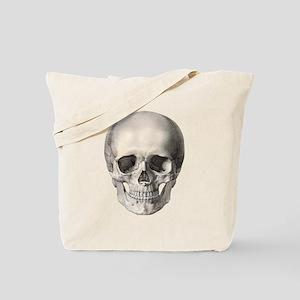 Vintage Human Skull Tote Bag