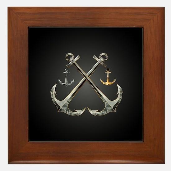 Shiny Anchors Framed Tile