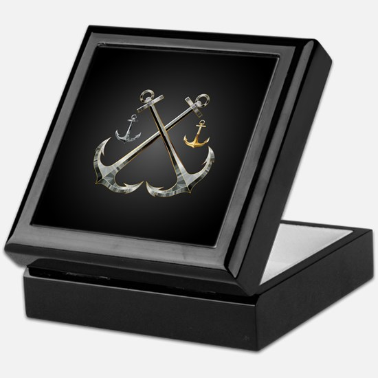 Shiny Anchors Keepsake Box