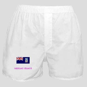 Falkland Islands Flag Pink Flower Des Boxer Shorts